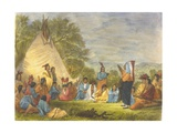 Indians in Council, 1853 Giclee Print by Captain Seth Eastman