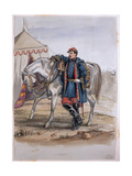 Portrait of General Clers, Former Commander of the Zouaves, from an Album of Paintings and… Giclee Print by George Cadogan