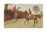 'Ar Never Gets Off', Hunting Scene Giclee Print by Cecil Charles Windsor Aldin