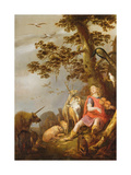 Orpheus with the Animals Giclee Print by  N. Knuepfer and G. G. de Hondecoeter