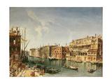 Venice, Grand Canal and the Fondaco Dei Turchi Giclee Print by Michele Marieschi