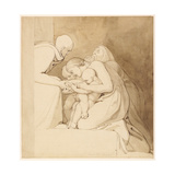 'Feed the Hungry' Giclee Print by John Flaxman