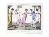'Les Quatre Coins', Illustration from 'Le Bon Genre', Early Nineteenth Century Giclee Print by Jean Francois Bosio
