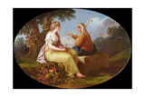 Oval Painting Giclee Print by Angelica Kauffmann