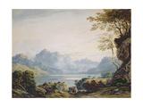 Lake in Snowdonia Giclée-Druck von John Varley