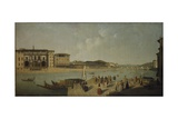 The Arno at Florence Giclee Print by Thomas Patch