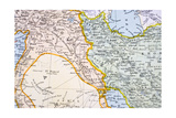 Partial Map of the Middle East in the 1890s, from 'The Citizen's Atlas of the World', Published… Giclee Print by  English School