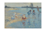 Walberswick, Children Paddling, 1891 Giclee Print by Philip Wilson Steer