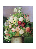 Still Life with a Basket of Flowers, 1840 Giclee Print by Henriette de Vesvres