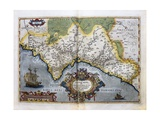 Map of the Kingdom of Valencia, from the 'teatro De La Tierra Universel', 1588 Giclee Print by Abraham Ortelius