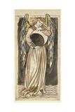 An Angel Holding a Waning Moon Giclee Print by William Morris