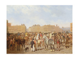 Old Smithfield Market, London, 1824 Giclee Print by Jacques-Laurent Agasse