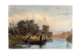 Spearing Fish from a Canoe, 1853 Giclee Print by Seth Eastman