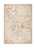 Map of Cambridge, from Caius 'Historia Cantabrigensis Academia', 1574 Giclee Print by Richard Lyne