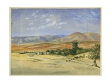 Ruined Acqueduct Near Jenin Giclee Print by Claude Conder