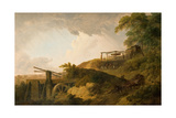 The Watershot Wheel Giclee Print by Julius Caesar Ibbetson
