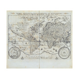 World Map Based on the Mercator Projection, Plate from the 'Nova Totius Terrarum Orbis… Giclee Print by Isaac Verbiest