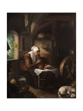 Grace before Meat Giclee Print by Gerrit or Gerard Dou