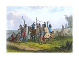 Striking the Post, 1853 Giclee Print by Captain Seth Eastman