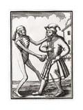 Death Comes to the Jew, from 'Der Todten Tanz', Published Basel, 1843 Wydruk giclee