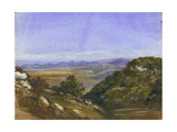The Mahrakah and View over the Plain to Jezreel, 1872 Giclee Print by Claude Conder
