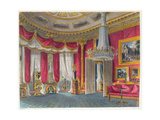 The Rose Satin Drawing Room, Carlton House, Looking South-West, Engraved by R. Reeve… Giclee Print by Charles Wild