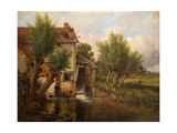 An Old Mill Near Worcester, 1880 Giclee Print by Benjamin Williams Leader
