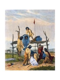 Indian Burial, 1853 Giclee Print by Captain Seth Eastman