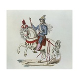 Equestrian Portrait of Henri IV in 1596 Giclee Print by  Lacoste Jeune