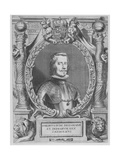 Portrait of Philip IV of Spain (1605-1665), Delegate of the Treaty of Muenster, Engraved by… Giclee Print by Anselmus Van Hulle