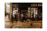 The Public Exhibition of Painting, 1888 Giclee Print by Juan Ferrer y Miro
