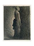 The Black Bow, 1882-3 Giclee Print by Georges Seurat