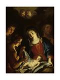 The Madonna Adoring the Infant Christ Giclée-tryk af Pietro Antonio Rotari