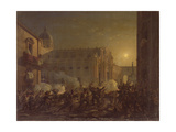The Burning of Catania after the Town's Conquest by the Bern Regiment in 1849, 1849 Giclee Print by Carl Wilhelm Goetzloff