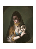 A Lady in a Masquerade Habit Giclee Print by Henry Robert Morland