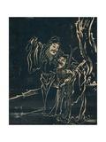 The Taoist Immortals Zhang Guo Lao and Cao Guojiu Giclee Print by  Yuan Mei