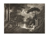 Belmont, Avenue to Portia's House, Act IIv, Scene I, from 'The Merchant of Venice', from the… Giclee Print by William Hodges