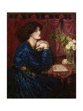 The Blue Silk Dress, 1898 Giclee Print by Dante Gabriel Rossetti