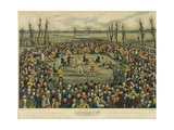 The Great Contest Between Sayers and Heenan for 200 Pounds a Side, Engraved by J. R. Mackrell and… Giclee Print by  J.B. Rowbotham and J. Brown