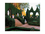 Neo-Classical Garden, 1890s Giclee Print by Santiago Rusinol i Prats