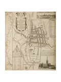 Map of Salisbury, 1751 Giclee Print by William Naish