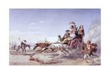 Frantic Neapolitan Barouche, 1828 Giclee Print by Carl Wilhelm Goetzloff