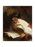 Portrait of a Girl Reading, 1842 Giclee Print by Thomas Sully