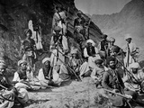 Khyber Chiefs and Khans, 1878-79 Photographic Print by John Burke