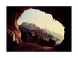 Grotto Near Amalfi, C.1828 Giclee Print by Carl Wilhelm Goetzloff