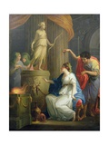 Accontius and Cydippe before the Altar of Diana Lámina giclée por Angelica Kauffmann