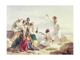 Group Wearing Neapolitan Costume, C.1827 Giclee Print by Carl Wilhelm Goetzloff