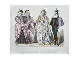 Louise of Lorraine-Vaudemont (1553-1601), Wife of Henri III, Duke of Guise (1549-88), Marguerite… Giclee Print by after Chevignard