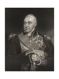 Admiral Edward Pellew, Engraved by William Holly (1807-71) from 'National Portrait Gallery,… Giclee Print by William Owen
