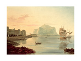 Palermo Harbour with Mount Pellegrino, 1831 Giclee Print by Carl Wilhelm Goetzloff